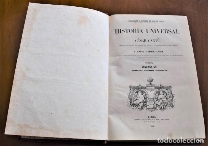 Libros antiguos: HISTORIA UNIVERSAL - CÉSAR CANTÚ - 1854 A 1859 - 10 TOMOS COMPLETA - MADRID, GASPAR Y ROIG EDITORES - Foto 57 - 257655180