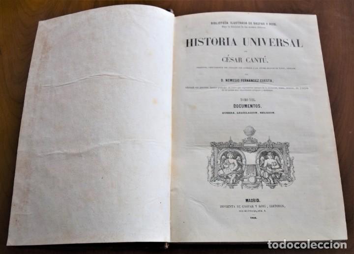Libros antiguos: HISTORIA UNIVERSAL - CÉSAR CANTÚ - 1854 A 1859 - 10 TOMOS COMPLETA - MADRID, GASPAR Y ROIG EDITORES - Foto 66 - 257655180