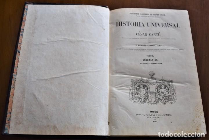 Libros antiguos: HISTORIA UNIVERSAL - CÉSAR CANTÚ - 1854 A 1859 - 10 TOMOS COMPLETA - MADRID, GASPAR Y ROIG EDITORES - Foto 74 - 257655180