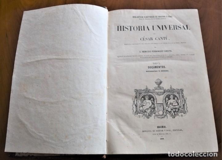 Libros antiguos: HISTORIA UNIVERSAL - CÉSAR CANTÚ - 1854 A 1859 - 10 TOMOS COMPLETA - MADRID, GASPAR Y ROIG EDITORES - Foto 82 - 257655180