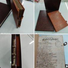 Libros antiguos: POEMA DE FERNAN GONZALEZ EDICION BIBLIOFILIA DE 200 EJ. EN PIEL ESTUDIO Y TRANSCRIPCION AY. BURGOS. Lote 257688135