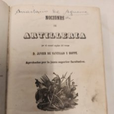 Libros antiguos: NOCIONES DE ARTILLERIA 1856. Lote 257689715