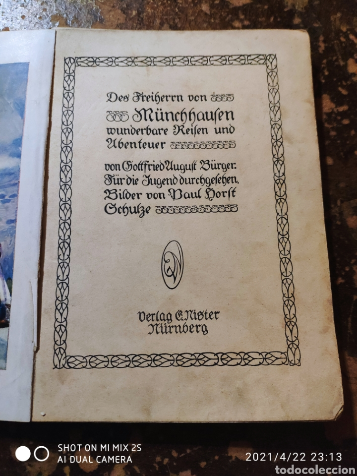 Libros antiguos: WUNDERBARE REISEN UND ABENTEUER (DES FREIHERRN VON MÜNCHHAUSEN) - Foto 2 - 257734950