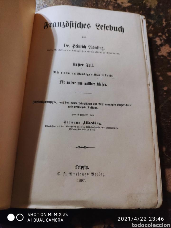Libros antiguos: FRANZÖSISCHES LESEBUCH 1 (DR. LÜDEKING) (1897) - Foto 2 - 257737850