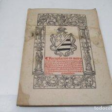 Libros antiguos: RECOPILACIÓN EN METRO (REPRODUCIDA EN FACSIMIL) W6791. Lote 259058395