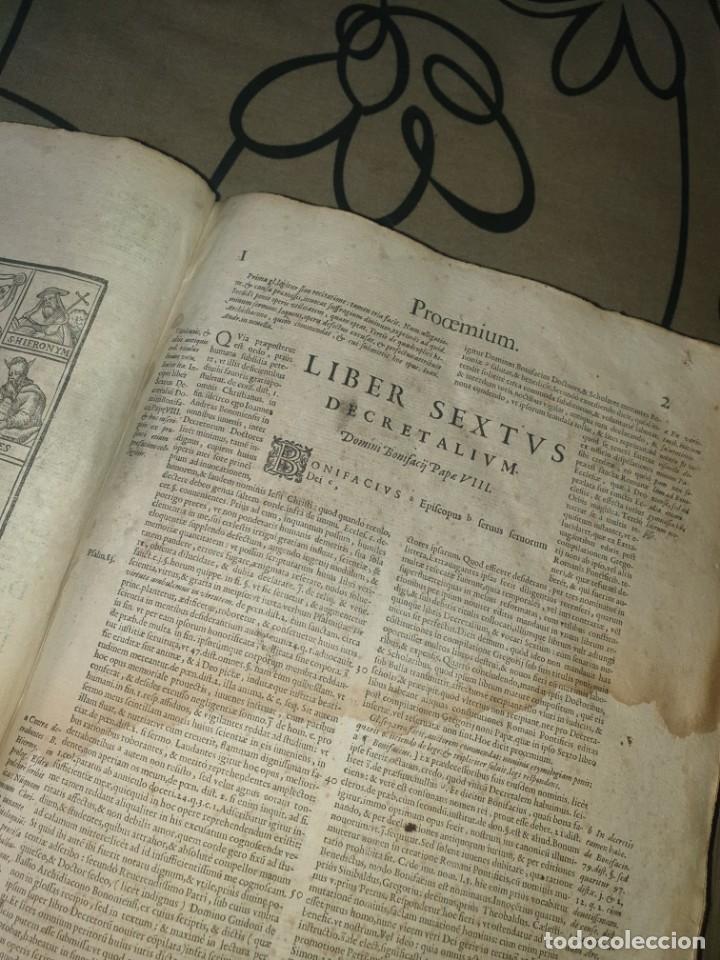 Libros antiguos: Liber sextus Decretalium D. Bonifacij Papae VIII -1613 - Foto 13 - 91026505