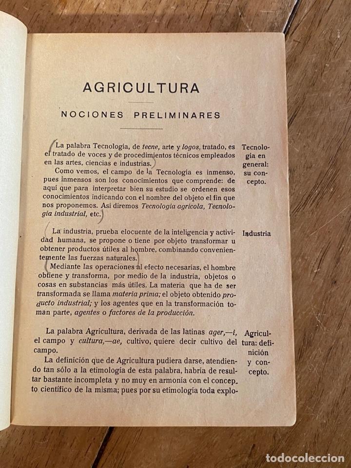 Libros antiguos: Libro Elementos de Agricultura por Joaquín Sánchez- 1923 - Foto 5 - 259760260