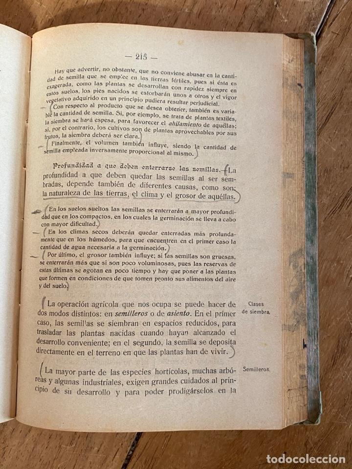 Libros antiguos: Libro Elementos de Agricultura por Joaquín Sánchez- 1923 - Foto 9 - 259760260
