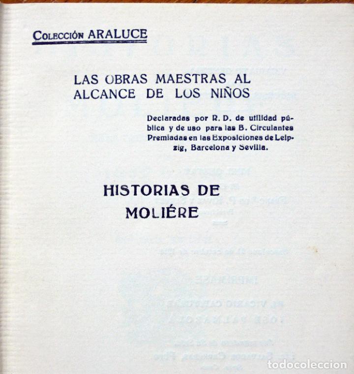 Libros antiguos: Colección Araluce. Historias de Moliere y mas historias de Shakespeare.1914 y 1956 - Foto 2 - 259901455