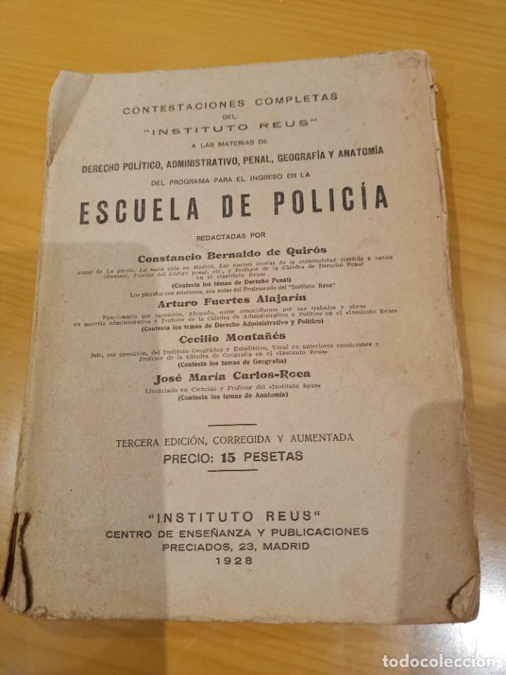 LIBRO PARA EL INGRESO EN LA POLICIA 1928 (Libros Antiguos, Raros y Curiosos - Ciencias, Manuales y Oficios - Otros)