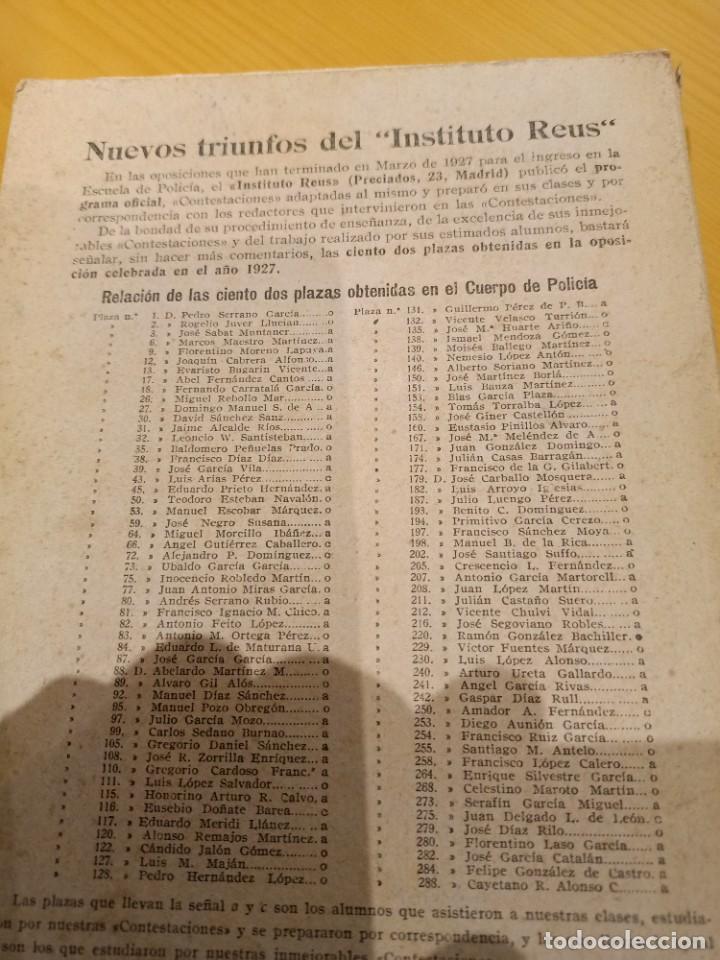 Libros antiguos: libro para el ingreso en la policia 1928 - Foto 3 - 260426080