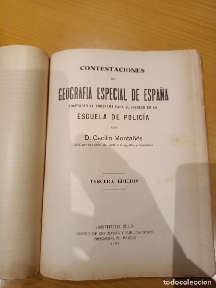 Libros antiguos: libro para el ingreso en la policia 1928 - Foto 4 - 260426080
