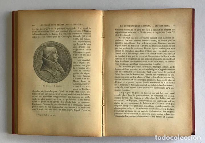 Libros antiguos: LESPAGNE SOUS FERDINAND ET ISABELLE. Le gouvernement, les institutions et les moeurs. - MARIEJOL, J - Foto 4 - 123213431
