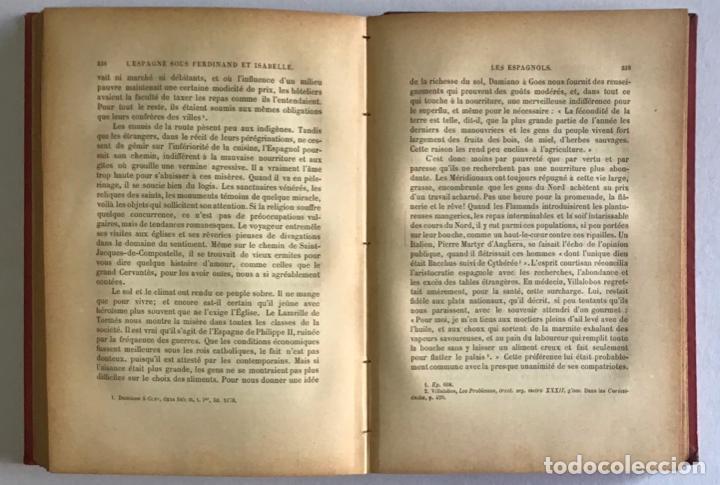 Libros antiguos: LESPAGNE SOUS FERDINAND ET ISABELLE. Le gouvernement, les institutions et les moeurs. - MARIEJOL, J - Foto 6 - 123213431