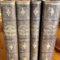 Libros antiguos: LA REVOLUCION RELIGIOSA- SAVONAROLA- LUTERO- CALVINO- SAN IGNACIO- CASTELAR 1880- 1883. Lote 261257855