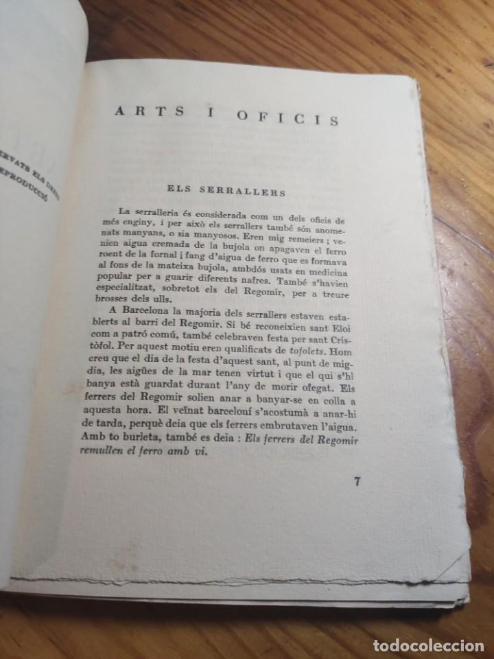 Libros antiguos: AMADES, Joan - ARTS I OFICIS. Biblioteca de tradicions populars. Volum XXV. Edició de 130 Exemplars. - Foto 3 - 261307360