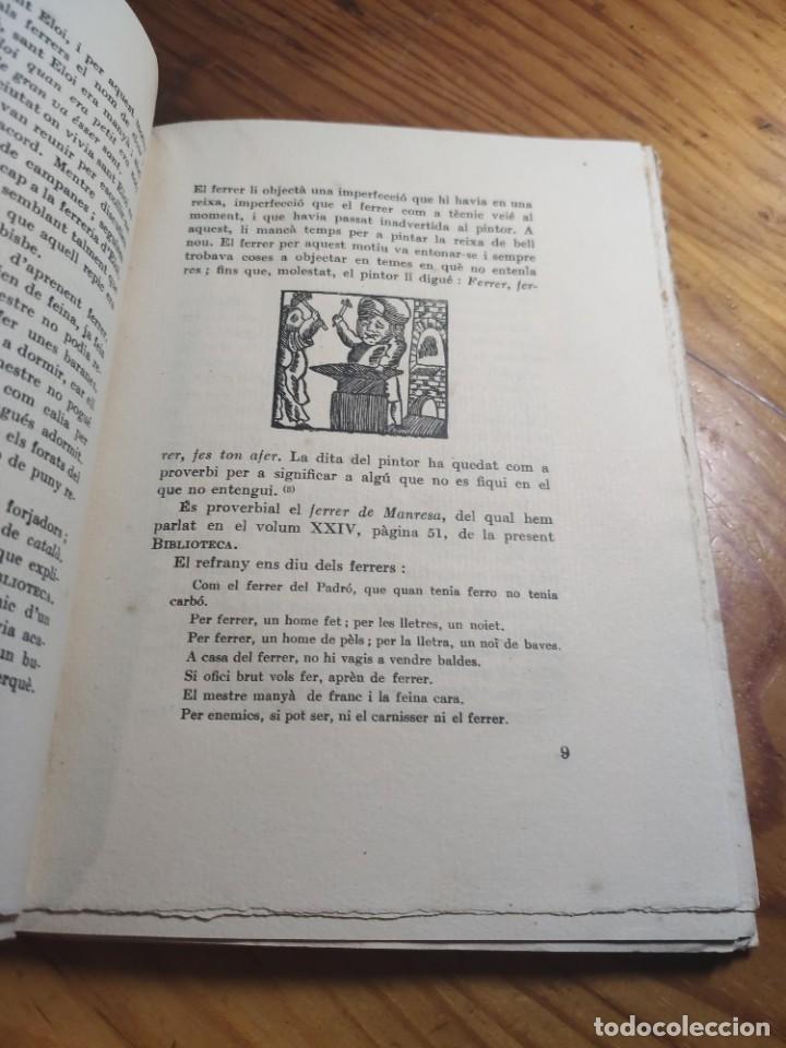 Libros antiguos: AMADES, Joan - ARTS I OFICIS. Biblioteca de tradicions populars. Volum XXV. Edició de 130 Exemplars. - Foto 4 - 261307360