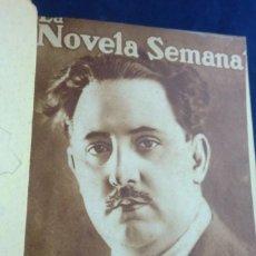 Libros antiguos: LA NOVELA SEMANAL TOMO CINCO TÍTULOS 1921. Lote 261545550