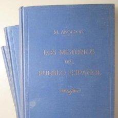 Libros antiguos: ANGELON, M. - LOS MISTERIOS DEL PUEBLO ESPAÑOL (3 VOL. - COMPLETO) - BARCELONA 1860. Lote 261563715
