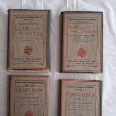 Livros antigos: 4 NOVELAS. BIBLIOTECA UNIVERSAL ILUSTRADA-MONTANER Y SIMÓN- SERIE 1912. Lote 261589815