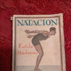 Libros antiguos: NATACION ESTILO MODERNO POR J. Y F. SINTES PRIMERA EDICIÓN BARCELONA LIBRERIA CATALONIA 1925. Lote 261635885