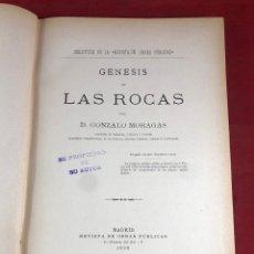 Libros antiguos: GÉNESIS DE LAS ROCAS 1898. Lote 261690045