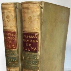 Libros antiguos: MEMORIAS HISTÓRICAS SOBRE LA MARINA, COMERCIO Y ARTES DE LA ANTIGUA CIUDAD DE BARCELONA .... Lote 261690085