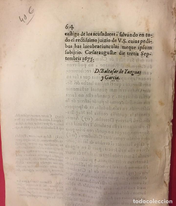 Libros antiguos: ARAGON 1675 D. JOSE DE CIRIA Y BETETA. JOSE FERNANDEZ DE HEREDIA DE CALATAYUD, PROCURATORIS FISCALIS - Foto 2 - 261824005