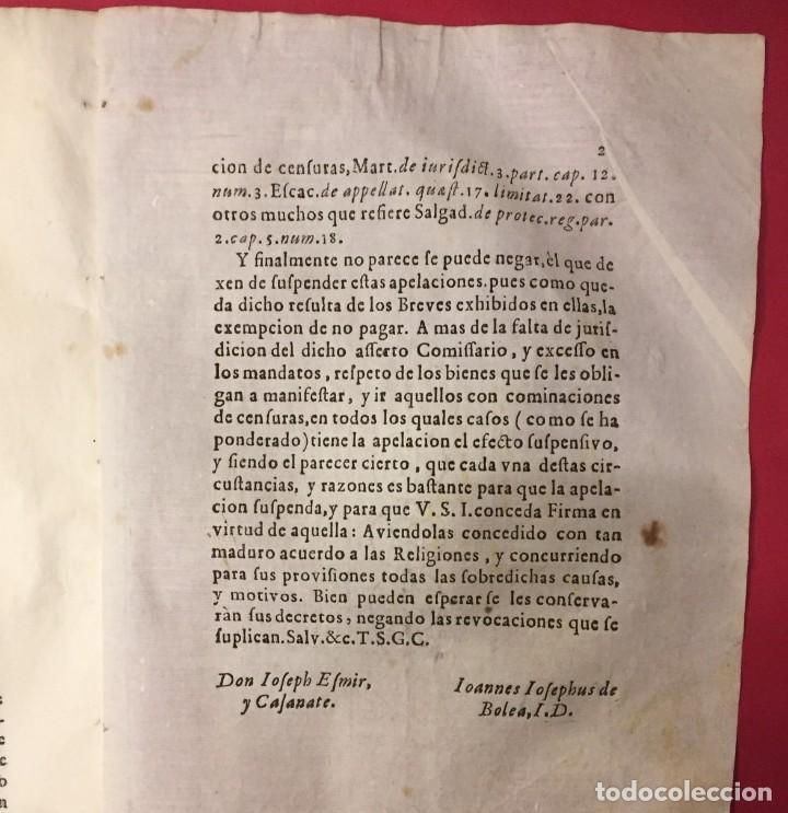 Libros antiguos: SIGLO XVII, NO PROCEDE LA REVOCACION QUE EL FISCO INSTA..RELIGIONES DE CISTEL CARTUJA SANTO DOMINGO - Foto 2 - 261828230