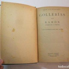 Libros antiguos: GOLLERIAS-RAMON GOMEZ DE LA SERNA-EDITORIAL SEMPERE-LIBRO ILUSTRADO-VER FOTOS-(V-22.748). Lote 261839005