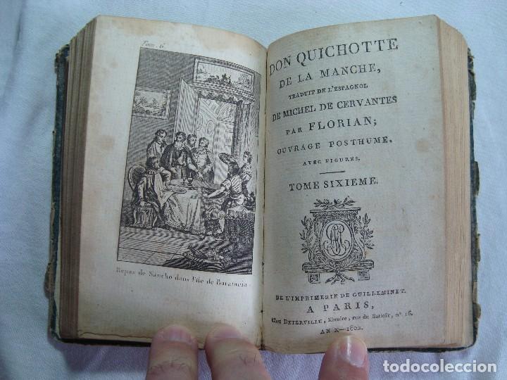 LIVRE DON QUICHOTTE DE LA MANCHE PAR FLORIAN PARIS 1802 TOME V ET VI - OUVRAGE POSTHUME (Libros Antiguos, Raros y Curiosos - Otros Idiomas)