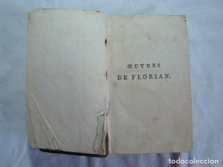 Libros antiguos: Livre Don Quichotte de la Manche par Florian Paris 1802 Tome V et VI - Ouvrage posthume - Foto 4 - 261917020