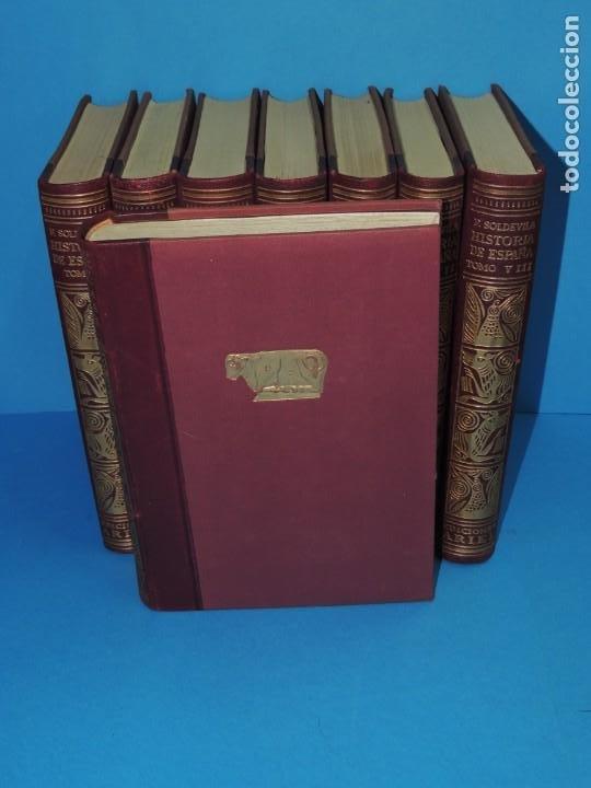 Libros antiguos: HISTORIA DE ESPAÑA.- F. SOLDEVILA (8TOMOS .OBRA COMPLETA) - Foto 2 - 262232095