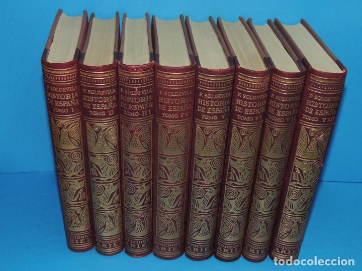 HISTORIA DE ESPAÑA.- F. SOLDEVILA (8TOMOS .OBRA COMPLETA) (Libros Antiguos, Raros y Curiosos - Bellas artes, ocio y coleccionismo - Otros)