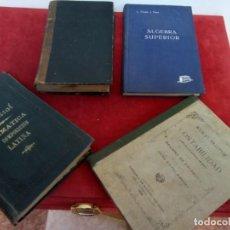 Libros antiguos: LOTE DE 4 LIBROS ANTIGUOS VER COMPOSICION. Lote 262232555