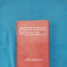 Libros antiguos: MANYOCH DE FRVYTA MALLORQVINA - JOAN ROSSELLÓ - 1ERA EDICIÓ. Lote 262241075