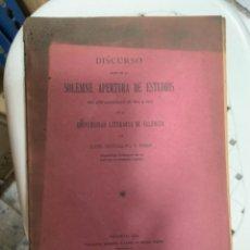 Libros antiguos: DISCURSO SOLEMNE APERTURA DE ESTUDIOS DEL AÑO 1914 A 1915 - UNIVERSIDAD LITERARIA DE VALENCIA. Lote 262300240