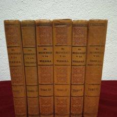 Libros antiguos: EL HOMBRE Y LA TIERRA. ELISEO RECLÚS. SEGUNDA EDICIÓN. AÑO 1932. 6 TOMOS.. Lote 262412385