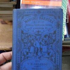 Libros antiguos: PRINCIPII DI DIRITTO AMMINISTRATIVO, V. E. ORLANDO. EN ITALIANO. 1921. L.14508-1215. Lote 262447530
