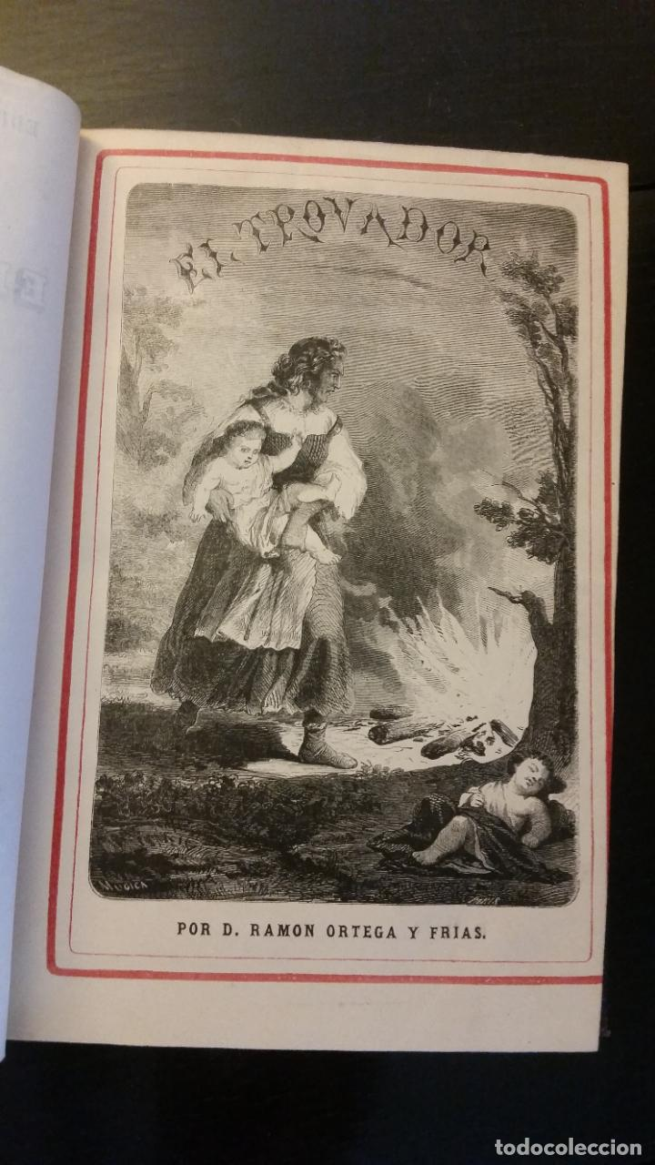 Libros antiguos: 1860 - R. ORTEGA FRÍAS - EL TROVADOR - PRIMERA ED. - Foto 2 - 262460310
