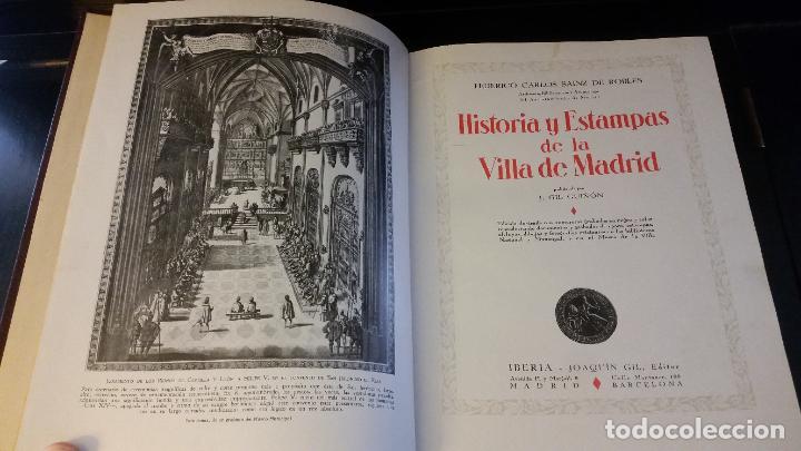 Libros antiguos: 1933 - SAINZ DE ROBLES - Historias y estampas de la Villa de Madrid - 2 TOMOS, 1ª ED. - Foto 3 - 262460440