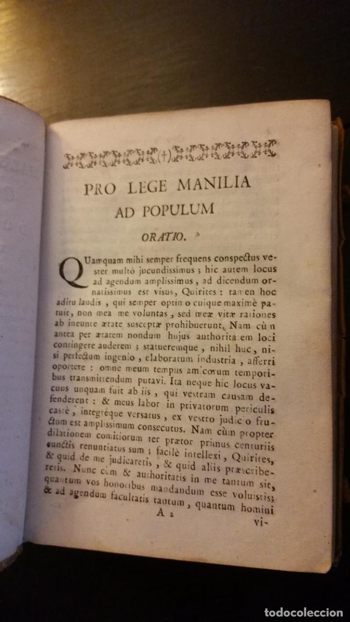 Libros antiguos: 1793 - CICERON - Selectae Marci Tullii Ciceronis Orationes, ad optima exemplaria - Foto 5 - 262461020