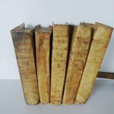 Libros antiguos: 5 LIBROS MARTÍNEZ LIBRERÍA DE JUECES 1764. Lote 262515325