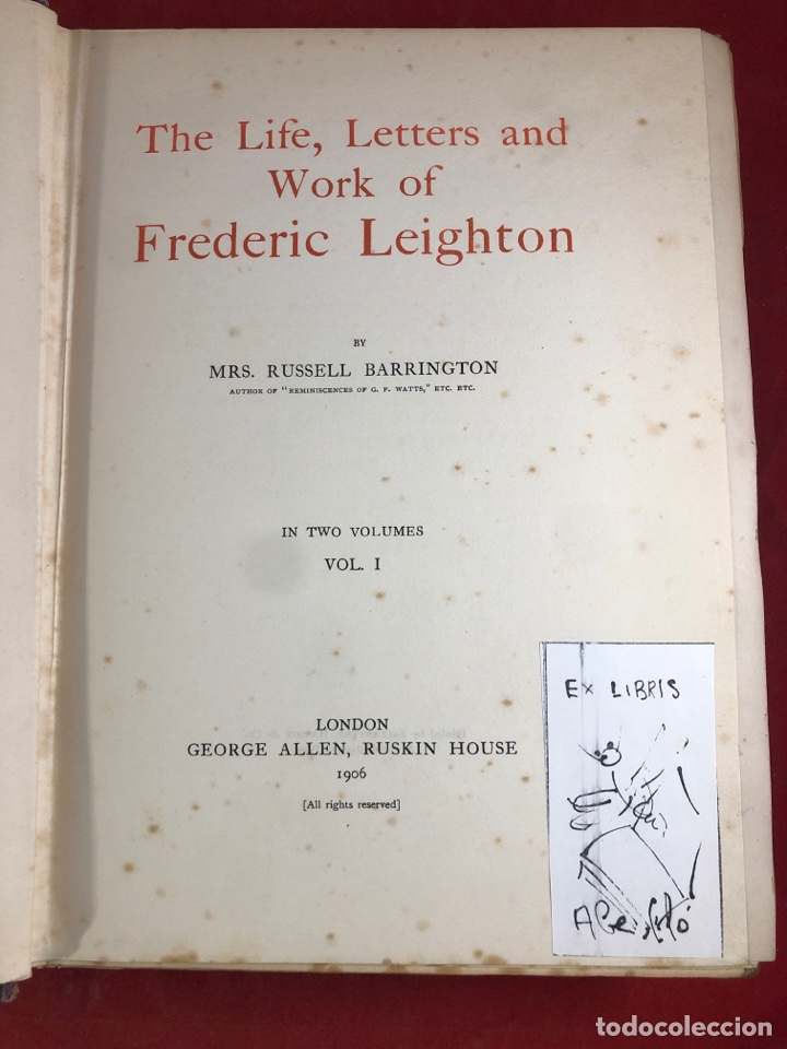 Libros antiguos: LIFE LETTERS AND WORK OF FREDERIC LEIGHTON - Foto 3 - 262552250