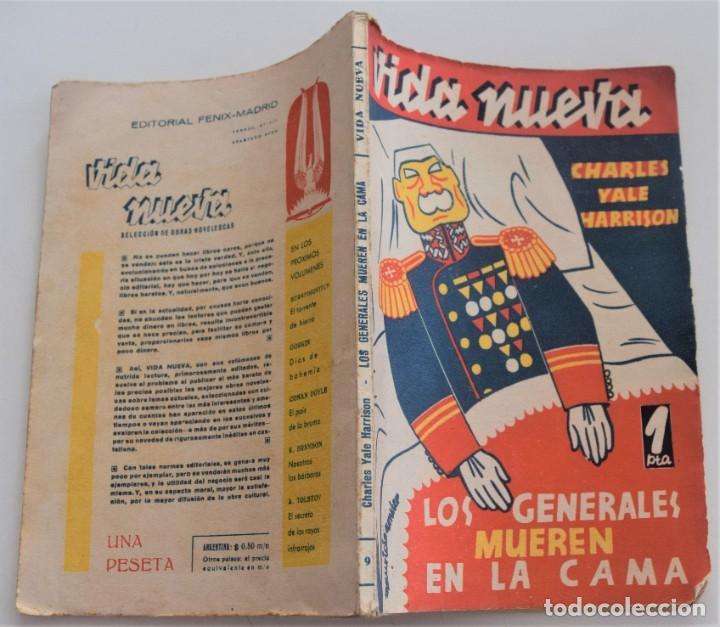 Libros antiguos: LOS GENERALES MUEREN EN LA CAMA - CHARLES YALE HARRISON - VIDA NUEVA Nº 9 - EDITORIAL FENIX 1933 - Foto 2 - 262582780