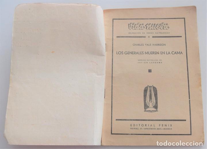 Libros antiguos: LOS GENERALES MUEREN EN LA CAMA - CHARLES YALE HARRISON - VIDA NUEVA Nº 9 - EDITORIAL FENIX 1933 - Foto 3 - 262582780