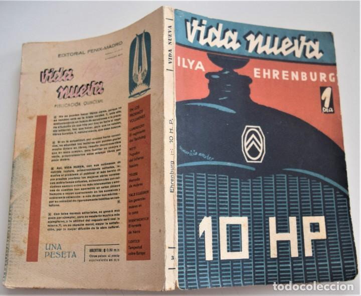 Libros antiguos: 10 HP - ILYA EHRENBURG - VIDA NUEVA Nº 3 - EDITORIAL FENIX 1932 - Foto 2 - 262583295