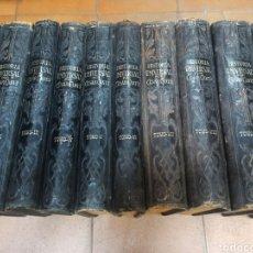 Libros antiguos: HISTORIA UNIVERSAL DE CESAR CANTU, 10 TOMOS COMPLETA, 191-1905, 150 LÁMINAS CON TRAJES, MAPAS, ETC.. Lote 262600715