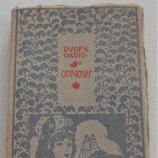 Libros antiguos: OPINIONES - RUBÉN DARÍO - TOMO X OBRAS COMPLETAS - EDITORIAL MUNDO LATINO - AÑO 1920. Lote 262624775