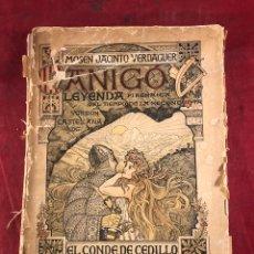 Libros antiguos: MOSEN JACINTO VERDAGUER. CANIGÓ. LEYENDA PIRENAICA. Lote 262688330